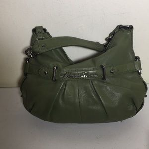 Kenneth Cole New York green leather shoulder bag